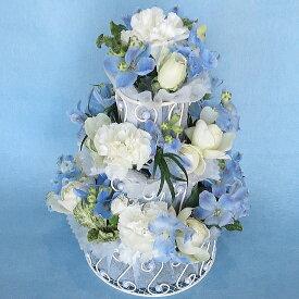 【フラワーケーキ】【送料無料】 生花3段ケーキフラワー W&B【誕生日】【結婚祝い】【送料無料】