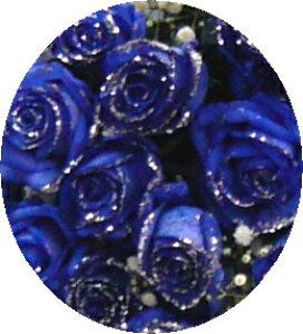 シルバーラメブルーローズ・青いバラ!60本【送料・消費税・かすみ草サービス】【還暦のお祝い】