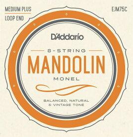 D'Addario・ダダリオ / マンドリン用弦 4本セット モネル巻弦 EJM75C Mandolin Strings, Monel, Medium Plus, 11-41