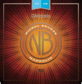 D'Addario・ダダリオ / マンドリン用弦 NBM1038 Nickel Bronze Mandolin Set, Light, 10-38 4本セット