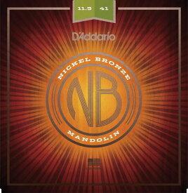 D'Addario・ダダリオ / マンドリン用弦 NBM11541 Nickel Bronze Mandolin Set, Medium-Heavy, 11.5-41 4本セット