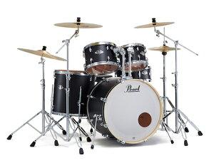 送料無料!Pearl パール / EXX Covering EXX725S/C シンバル付ドラムフルセット (スタンダードサイズ) マットブラック【smtb-tk】
