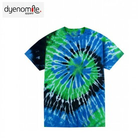 dyenomite Tied and Dyed in the U.S.A タイダイ 絞り 染め マルチカラー スパイラル柄 シーストーム 半袖 Tシャツ 20180627