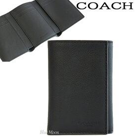 コーチ COACH 三つ折り財布 二つ折り メンズ 本革 アウトレット ブラック 黒 F23845 BLK