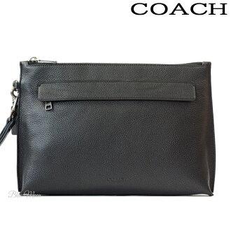 8e162f9ae4 Coach COACH second bag men leather clutch bag black black outlet F28614 BLK