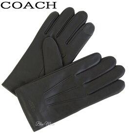 0a4a62b05973 コーチ COACH 手袋 メンズ 牛革 ブラック 黒 アウトレット F54182 BLK