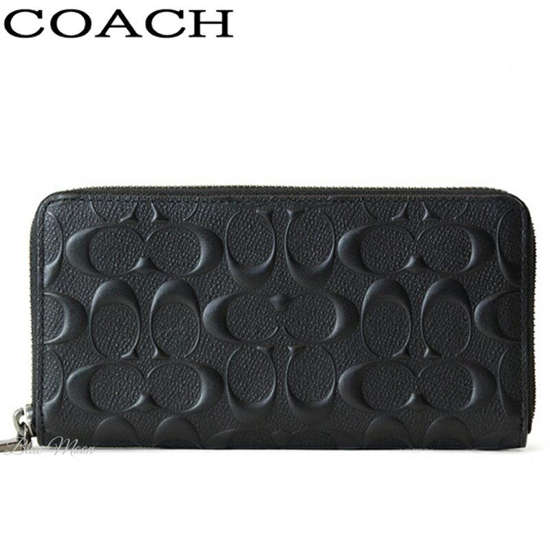コーチ COACH 長財布 メンズ レザー シグネチャー ブラック F58113 BLK アウトレット