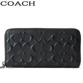 コーチ COACH 財布 長財布 メンズ アウトレット 本革 ブラック 黒 F58113 BLK