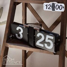 シンプルでスタイリッシュ、レトロデザインのFLIP CLOCKウォールクロック 時計 ウォッチ 置型 掛型 CLK-118