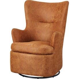 ロッキングチェア パーソナルチェア 1人掛け 高座椅子 椅子 クロスレザー ロッキング 回転式 贅沢 座り心地 ゆったり ヴァーチ HS-67CA