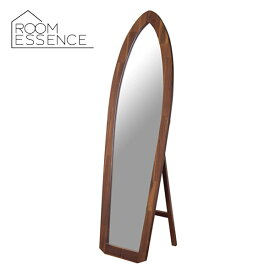 サーフボードの形をした姿見ミラースタンドミラー 高さ160cm ミラー 全身鏡 鏡 姿見 木製枠 飛散防止加工 TSM-532
