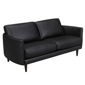 ソファ 2人掛け 幅180cm ソファー 椅子 本革 レザー 贅沢 座り心地 ドシャルール WE-161BK
