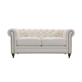 ソファ 幅178cm 2人掛け ソファー 椅子 本革 レザー 贅沢 座り心地 チャリオット ホワイト WE-667WH