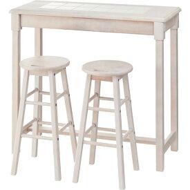 カウンタースツールセット カウンターテーブル ハイテーブル バーテーブル スツール ハイスツール カウンター ダイニング リビング テーブル 机 木製 天然木 シンプル おしゃれ ホワイト NET-588WH