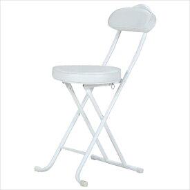 スリムチェアー 折りたたみチェア 折り畳み 折畳み チェアー チェア 椅子 いす 簡易椅子 腰掛椅子 コンパクト 持ち運び 収納 パイプイス ホワイト 94775