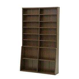 【代引き不可】 不二貿易 (FUJIBOEKI) 書棚 幅120cm カラー:ダークブラウン シンプルデザインがおしゃれ オフィスからご自宅まで 本棚・ブックラック・書斎 BK-1220 67767