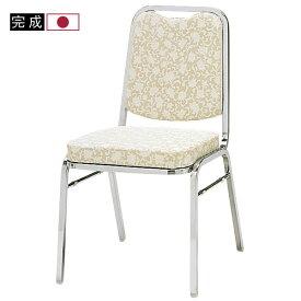 【法人・店舗向け配送】安心の日本製レセプションチェアレセプションチェア 会議椅子 パイプ椅子 チェア 椅子 レザー張り クロームメッキ MMR-2M