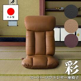 座椅子 座面高さ9cm 薄型 リクライニングチェア フロアチェア ローチェア 椅子 いす ハイバック レバー式13段階リクライニング ウレタン 完成品 リビング シンプル デザイン YS-1310