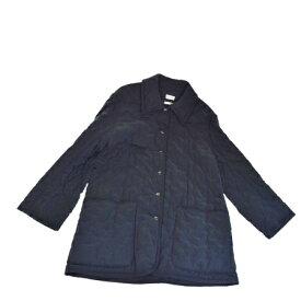 【中古】 美品 エルメス HERMES 中綿入りコート ジャケット ブラック ポリエステル ナイロン 男女可 34 64B1275