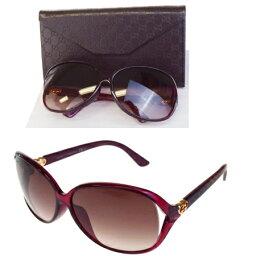 有新型未使用的古馳GUCCI太陽眼鏡GG花紋心紫塑料情况眼鏡擦布的GG3792/F/S 02BA157