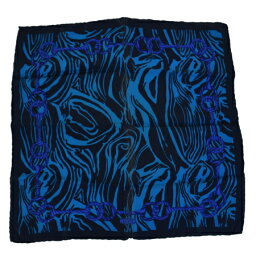 古馳GUCCI圍巾深藍色絲綢100%03EC944