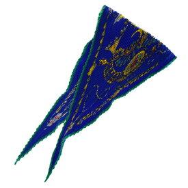 【中古】 超美品 エルメス HERMES スカーフ ギャザー 宝石柄 ブルー シルク 100% 04EC957