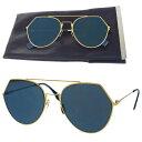 4b0894d347 07EC041 with the rare Fendi FENDI sunglasses gold blue metal plastic case  glasses wiping