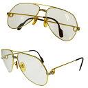 5c5e08ec1e6 Beautiful article Cartier Cartier Santos Vendome glasses frame gold  Bordeaux red metal 37BE546