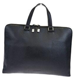 【中古】 中美品 ディオールオム Dior Homme ブリーフケース ビジネスバッグ ハンドバッグ ブラック レザー 62EG974