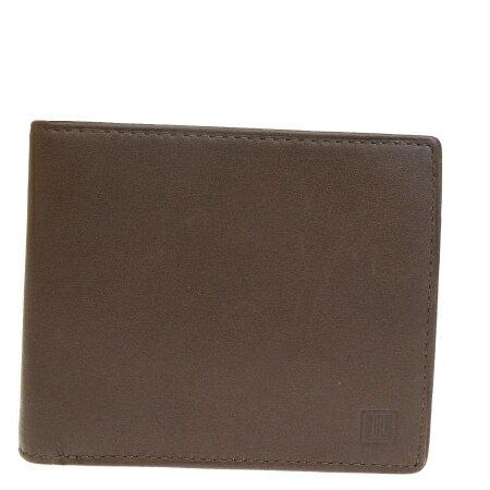 送料無料 【中古】 美品 ランバンコレクション LANVIN COLLECTION 二つ折り 財布 ブラウン レザー 06HD463