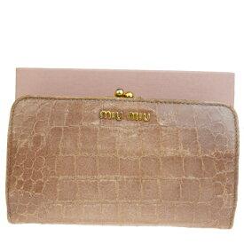 new styles 21792 7aea6 楽天市場】ミュウミュウ 二つ折り財布 がま口の通販