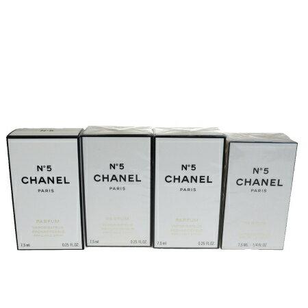 送料無料 【新品】 4点セット シャネル CHANEL 香水 フレグランス スプレー ナンバーファイブ No.5 7.5ml ケース付き 04HD710