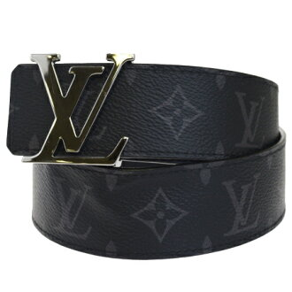 Louis Vuitton LOUIS VUITTON sun Tulle initial belt buckle monogram eclipse leather 90cm M9043 85EK883