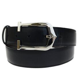 【中古】 カルティエ Cartier ベルト バックル ブラック シルバー レザー メタル 62EM588