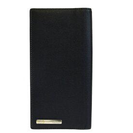 【中古】 美品 カルティエ Cartier サントス 二つ折り 長財布 ブラック レザー 65EM137