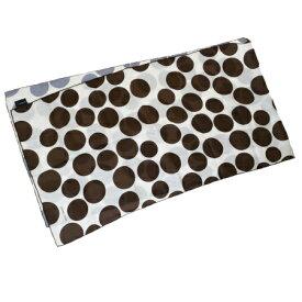 【中古】 新型 エルメス HERMES ロング スカーフ ドット柄 ホワイト ブラウン シルク 100% 09EQ125