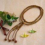 真言宗本式数珠*本連念珠◆正梅(しょううめ)尺二◆利休梵天房桐箱粗品付
