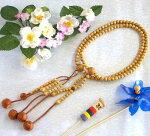 日蓮宗本式数珠*本連念珠◆星月菩提樹共仕立*尺二◆利休梵天房桐箱粗品付
