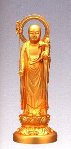 仏像■ 子安地蔵菩薩 1人水子 純金メッキ仕上 15■合金製 紙箱入【高岡銅器】
