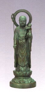 仏像■ 子安地蔵菩薩 1人水子 青銅色 15■合金製 紙箱入【高岡銅器】
