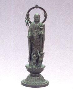 仏像■ 子安地蔵菩薩 3人水子 青銅色 10■合金製 紙箱入【高岡銅器】