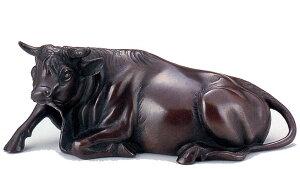 置物 干支■ 銅 和牛 15号 ■和雲作 銅製 化粧箱入り【高岡銅器】