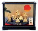 仏像 七福神■ 七福神 ガラスケース入り ■合金製 化粧箱入【高岡銅器】