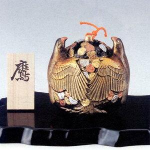 香炉・香立て■ 香炉 鷹 ■瑞峰作 アルミ製 台付 化粧箱入り【高岡銅器】