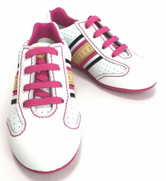 未使用 ルイヴィトン スニーカー 約15cm キッズ用 シューズ レザー 白 ピンク #25 靴【中古】