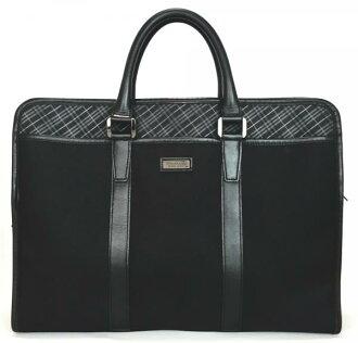 巴宝莉黑色标签文件包公文包商务袋男人为男人巴宝莉黑色黑色复选标记