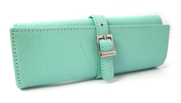 tiffany blue tiffany beauty products and leather jewelry case jewelry pouch tiffany jewelry roll - Jewelry Roll