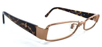 普拉达眼镜眼镜眼镜架子标识女士苗条没镜片的眼镜眼镜架子PRADA VPR72L眼镜架子粉红黄金棕色金属时装眼镜