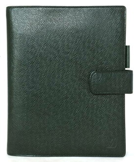 LV Vuitton LOUIS VUITTON Louis Vuitton Louis Vuitton Louis Vuitton dark green leather for the Louis Vuitton taiga notebook cover agenda GM エピセア R20404 system notebook men gentleman