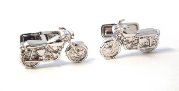 新品同様 ダンヒル カフス バイク SV925 シルバー オートバイ カフリンクス カフスボタン 銀製 dunhill メンズ 紳士用 【中古】